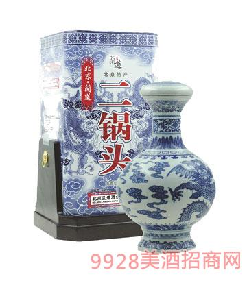 53度 北京兰道二锅头酒大明青花龙礼盒