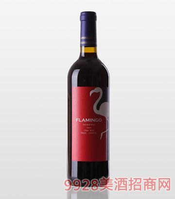 景芝鸿鹳2014美乐干红葡萄酒13度750ml