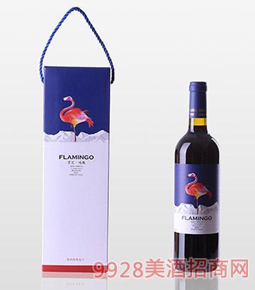 景芝鸿鹳2014佳美娜干红葡萄酒包装13度750ml
