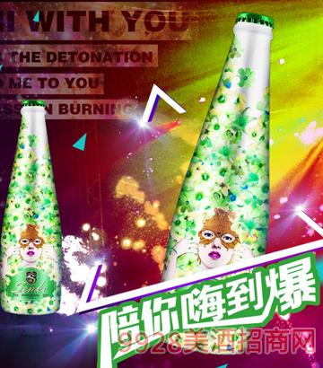 天下水坊青苹果味气泡酒绿色青春