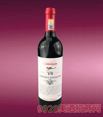 2014克里斯奔富河谷V6赤霞珠干红葡萄酒