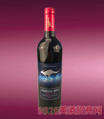 奥瑞星袋鼠·梅洛红葡萄酒