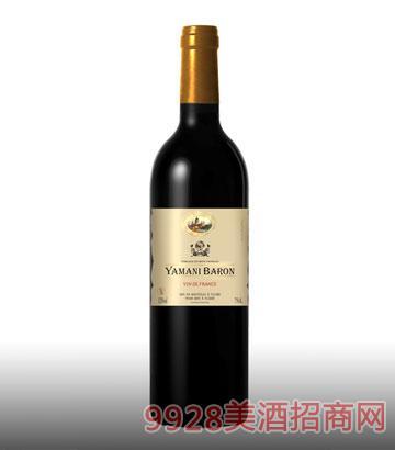 亚玛尼男爵干红葡萄酒13%vol750ml