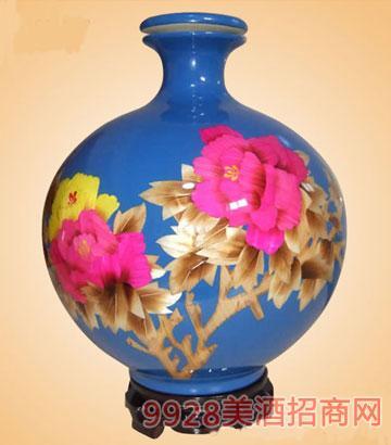 五斤花开富贵酒(蓝坛)