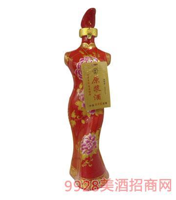 老贡酒原浆酒旗袍(红)