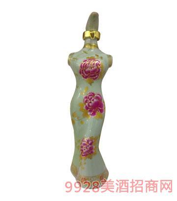 老贡酒原浆酒旗袍(绿)