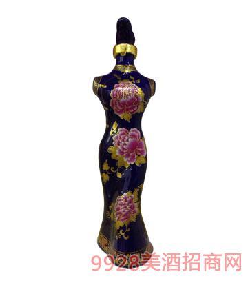 老贡酒原浆酒旗袍(蓝)