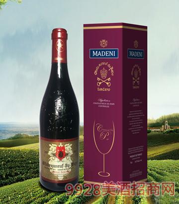 教皇新堡圣卡罗家族珍藏干红葡萄酒