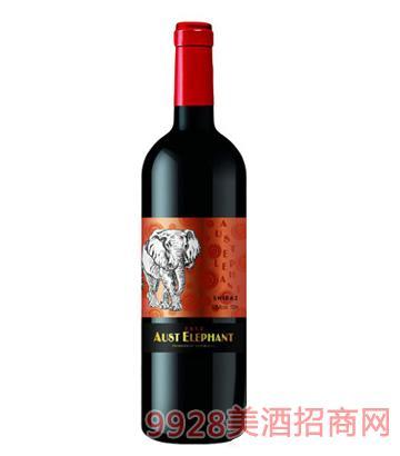 澳洲象珍藏西拉干红葡萄酒13.5度750ml