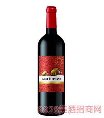 澳洲象美乐干红葡萄酒13.5度750ml