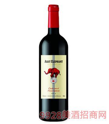 澳洲象加本力苏维翁干红葡萄酒750ml