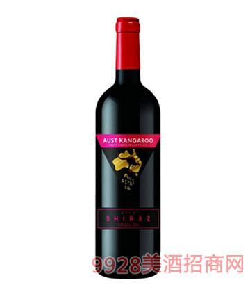 澳洲袋鼠珍藏西拉干红葡萄酒13.5度750ml