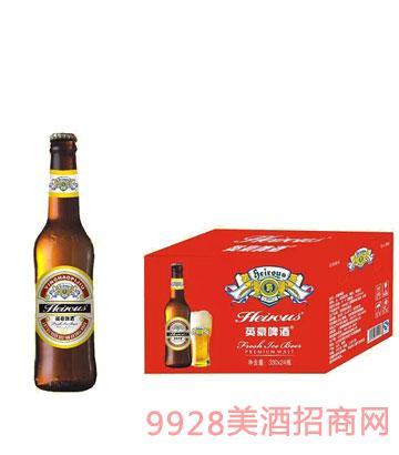 英豪啤酒百威瓶330ml瓶装