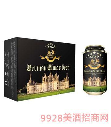 德国艾玛士黑啤酒330ml