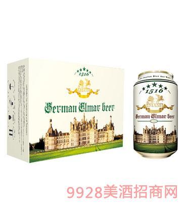 德国艾玛士白啤酒330ml