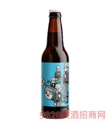 字母涂鸦者啤酒