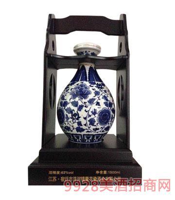 青花龙瓷坛酒63度1500ml