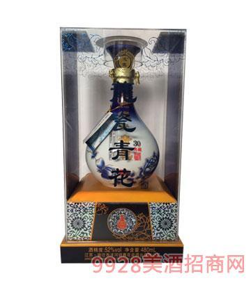 52度480ml龙瓷青花坛酒典藏30