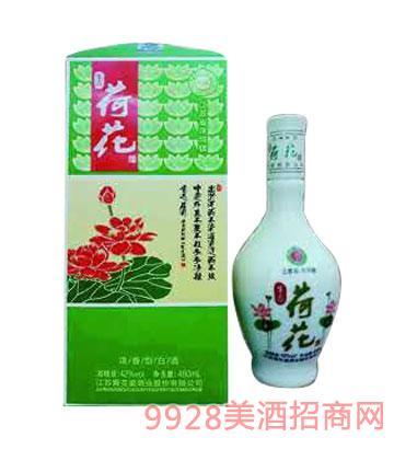 青花瓷(蓝花瓷)酒业荷花酒42度480ml