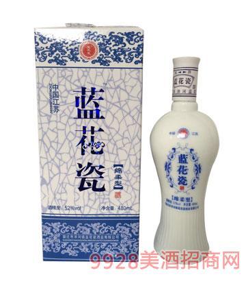 龙瓷酒蓝花瓷酒52度480ml