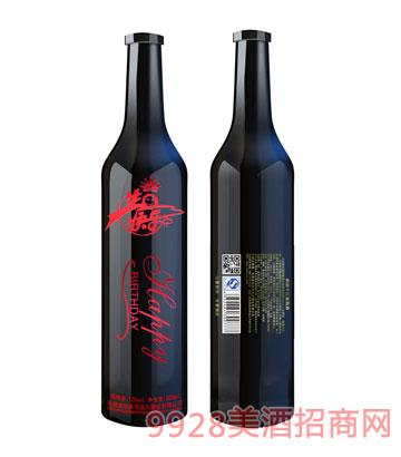 生日快乐红金葡萄酒