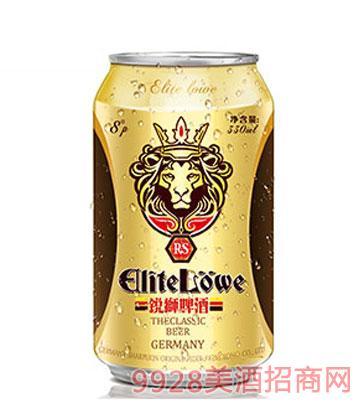 锐狮啤酒经典8°-330ml(罐装)