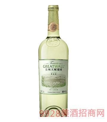 长城天赋葡园沙城产区洋河河谷谷龙眼精选级干白葡萄酒