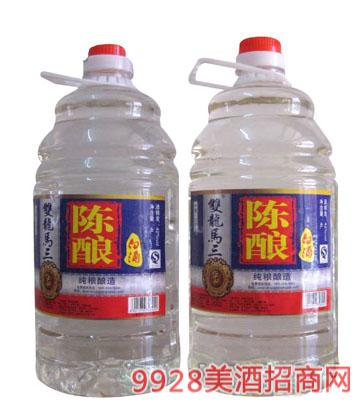 双龙马三陈酿白酒4Lx4