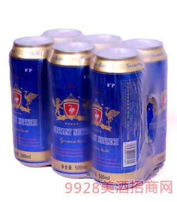 8°P諾威原釀啤酒500mlx6塑包