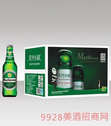 美林小镇330绿瓶啤酒