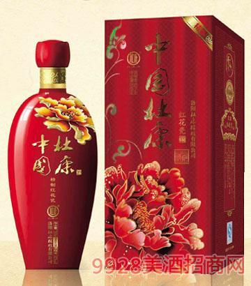 中国杜康精制红花瓷酒