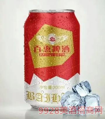 百惠啤酒330ml红罐