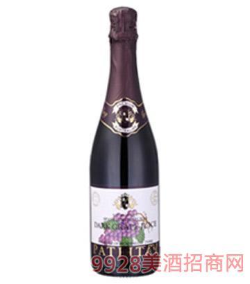 芭萃蒂自然红气泡葡萄汁葡萄酒