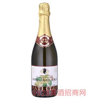 芭萃蒂自然白气泡葡萄汁葡萄酒