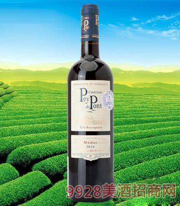 法国波尔多小桥酒庄干红葡萄酒2010