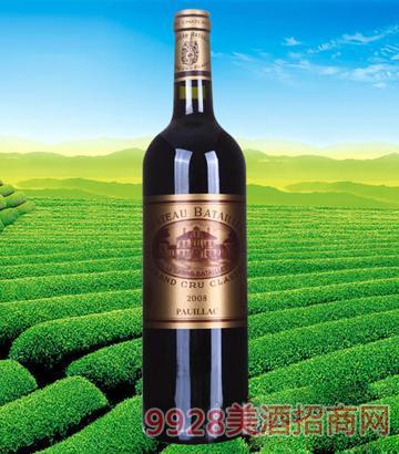法国波尔多巴特利庄园红葡萄酒2008