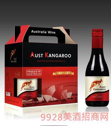 澳洲袋鼠迷你葡萄酒箱装