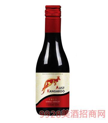 澳洲袋鼠迷你干红葡萄酒13.5度187ml