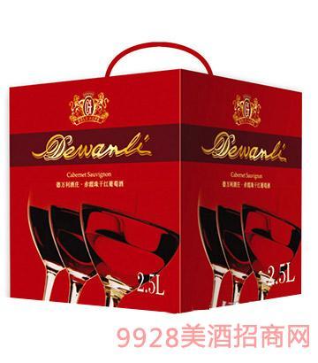 万利边l#��ozl�Myb-��._法国德万利酒庄赤霞珠干红葡萄酒2.5l方盒