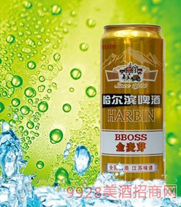 哈尔滨啤酒金麦芽500ml