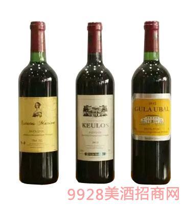 法国龙船葡萄酒