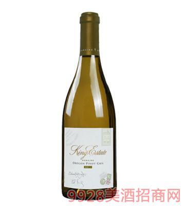 钻石灰皮诺白葡萄酒
