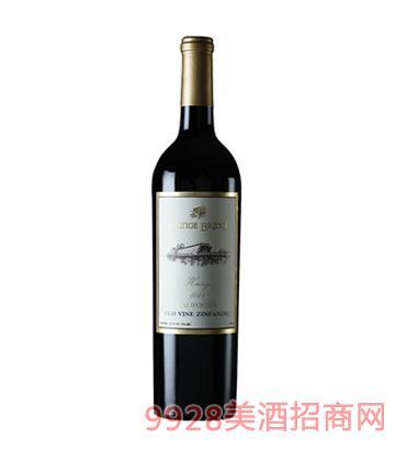 廊桥传承版百年古藤仙粉黛红葡萄酒