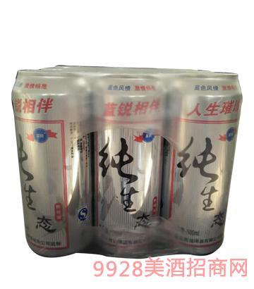 蓝锐纯生态啤酒塑包