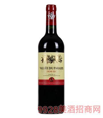 天堂谷酒庄迪米隆半干红葡萄酒