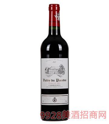 天堂谷酒庄科比干红葡萄酒