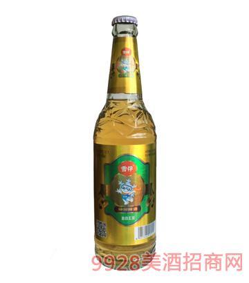 雪仔原浆啤酒12度480ml
