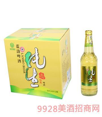 蓝渤啤酒纯生态瓶装500mlx12