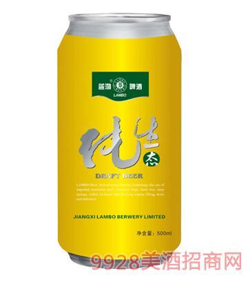 蓝渤啤酒纯生态易拉罐500ml