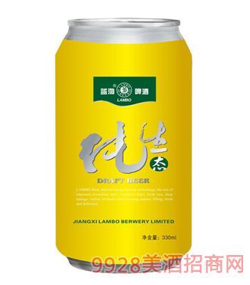 蓝渤啤酒纯生态易拉罐330ml
